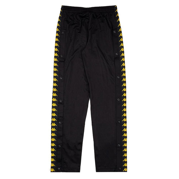 KAPPA MEN'S ASTORIA BLACK GOLD SNAP PANTS