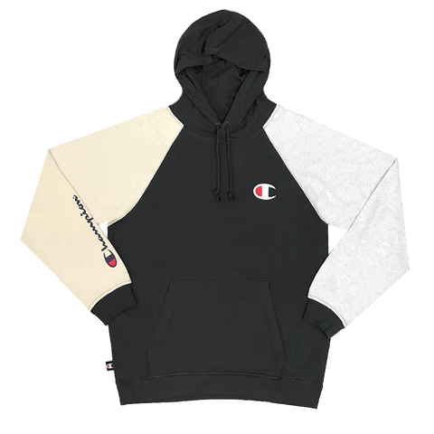 CHAMPION MEN'S FOR THE TEAM SCRIPT FRENCH TERRY LIGHT BLACK HOODIE