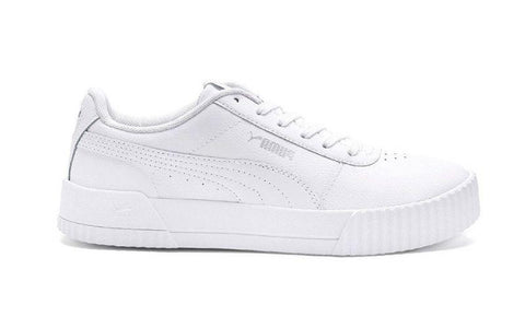 PUMA WOMEN'S CARINA LEATHER WHITE SNEAKERS