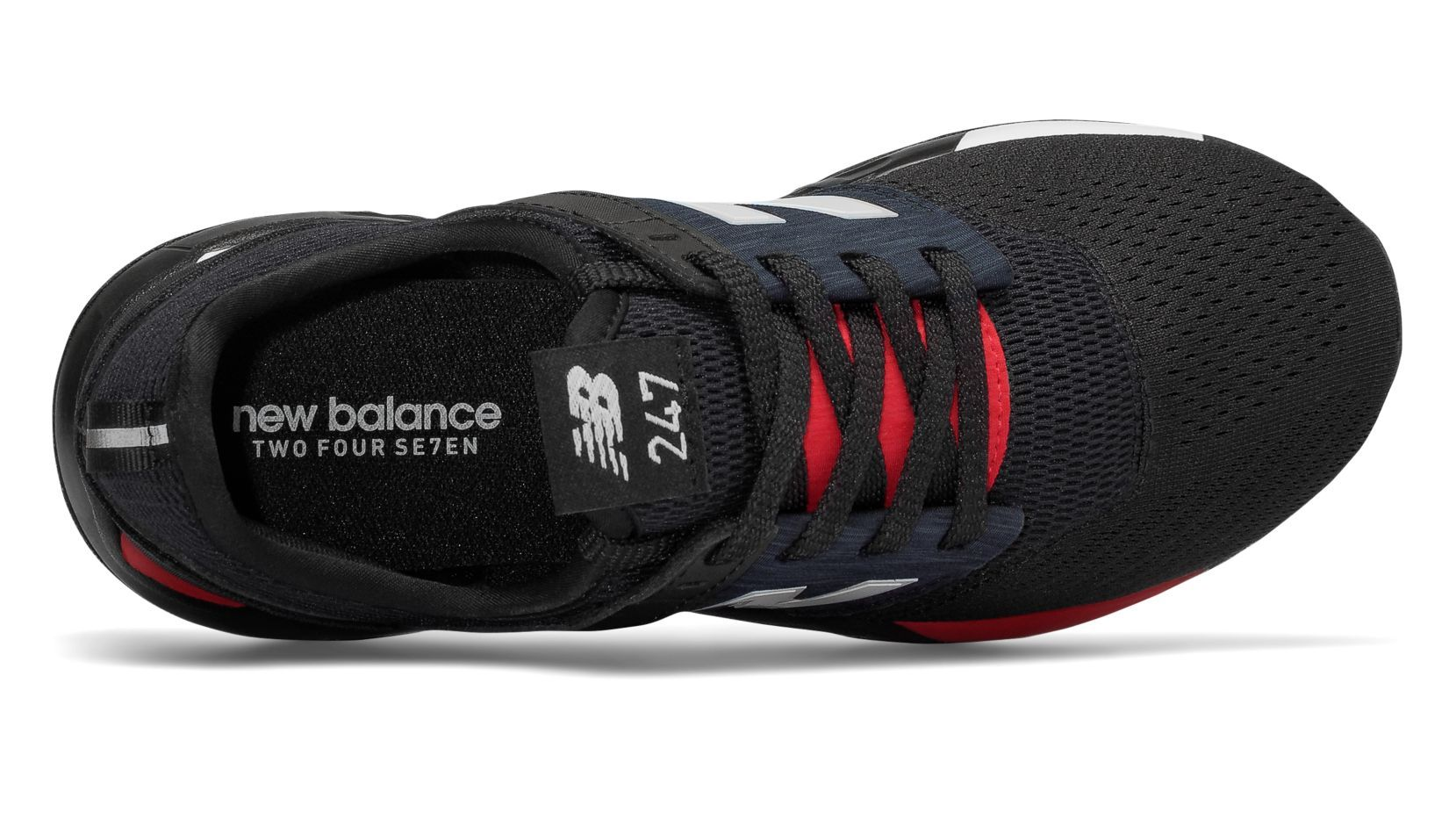 NEW BALANCE JUNIOR CLASSIC 247 BLACK SHOES