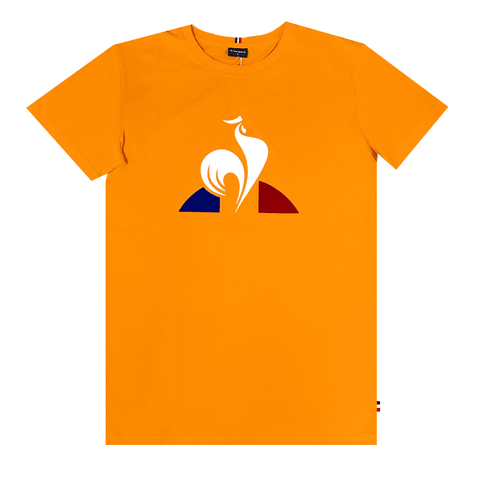 LE COQ SPORTIF MEN'S ESSENTIAL LOGO GOLD YELLOW TEE