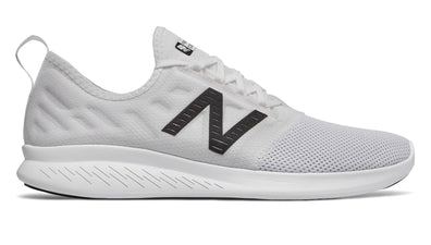NEW BALANCE MEN'S FUELCORE COAST V4 WHITE RUNNING SHOES
