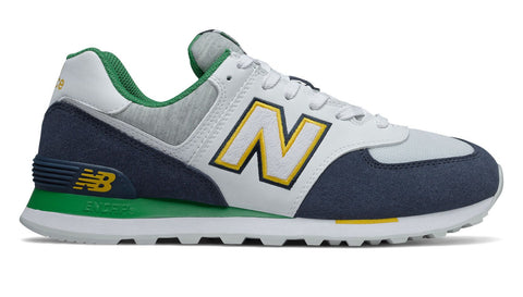 NEW BALANCE MEN'S 574 COLLEGE NAVY/WHITE/GREEN SHOES