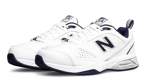 NEW BALANCE MEN'S 624V4 WHITE SNEAKERS