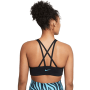 NIKE WOMEN'S DRI-FIT INDY ICON CLASH LIGHT-SUPPORT PADDED STRAPPY BLACK SPORTS BRA