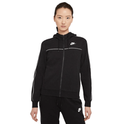 NIKE WOMEN'S SPORTSWEAR MILLENNIUM FULL-ZIP BLACK HOODED JACKET
