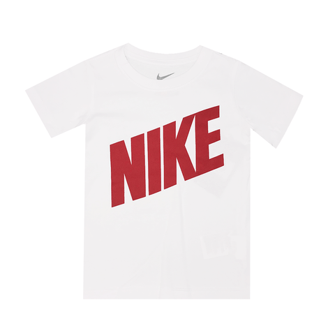 NIKE JUNIOR BLOCK SS WHITE TEE
