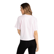 RUSSELL ATHLETIC WOMEN'S BAR LOGO PINK CROP TEE