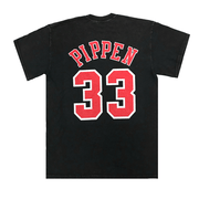 MITCHELL AND NESS MEN'S SCOTTIE PIPPEN CHICAGO BULLS VINTAGE BLACK TEE
