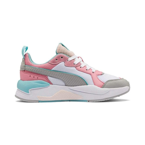 PUMA JUNIOR X-RAY WHITE PINK SHOES