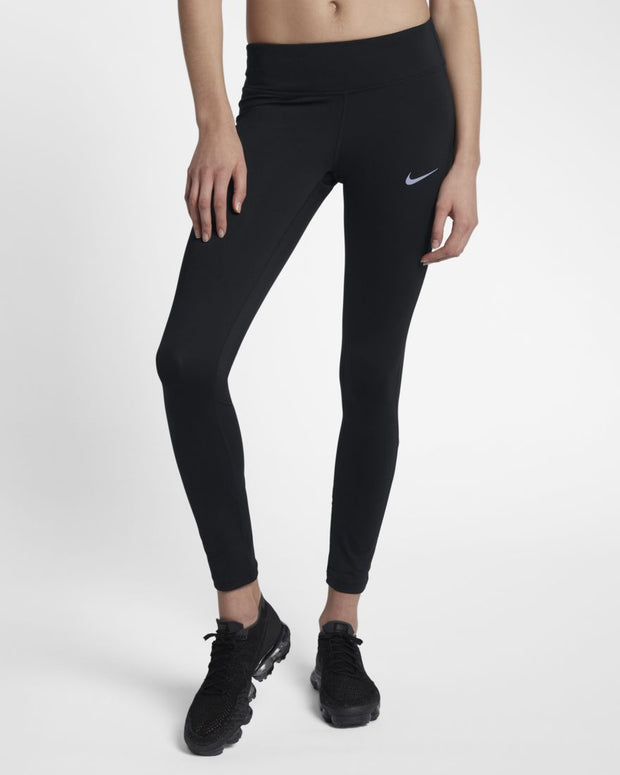 NIKE WOMEN'S RACER MID-RISE BLACK TIGHTS