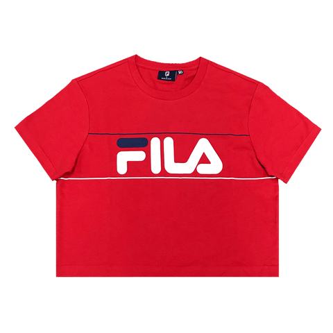 FILA WOMEN'S GEORGIA CROP RED TEE