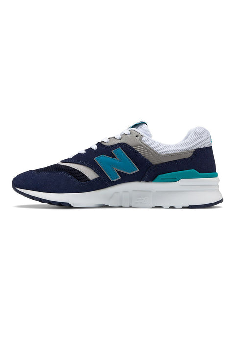 NEW BALANCE MEN'S 997H NAVY TEAL SNEAKERS