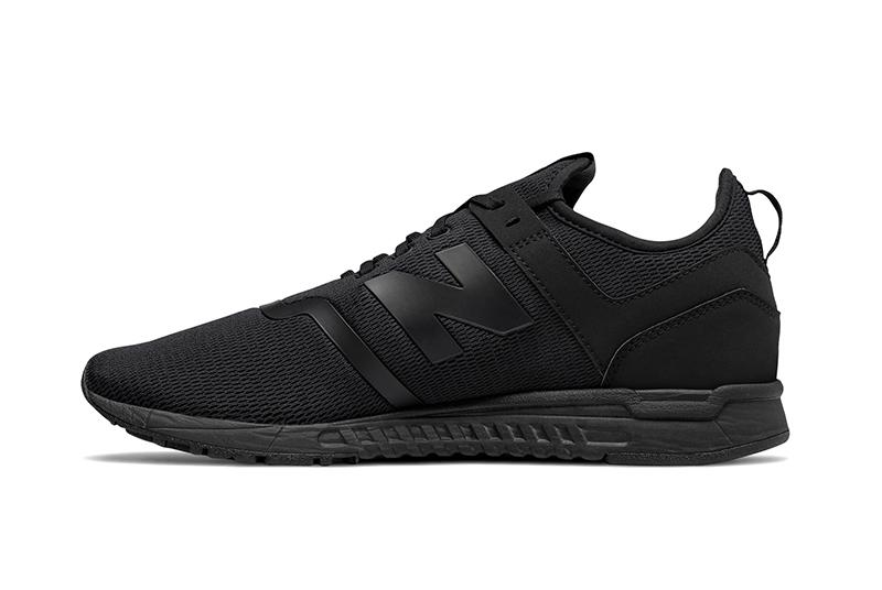 NEW BALANCE MEN'S 247 TRIPLE BLACK SNEAKERS