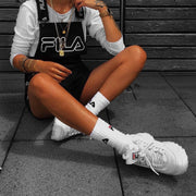 FILA WOMEN'S DISRUPTOR II WHITE SNEAKERS