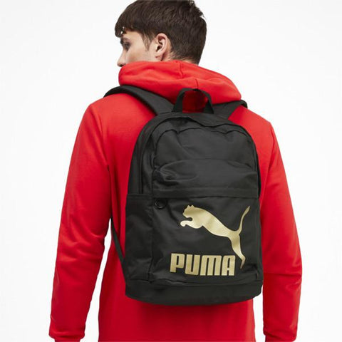 PUMA ORIGINALS BLACK GOLD BACKPACK
