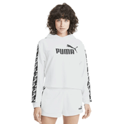 PUMA WOMEN'S AMPLIFIED CROPPED WHITE HOODIE