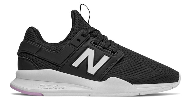 NEW BALANCE WOMEN'S 247 BLACK WHITE SNEAKERS