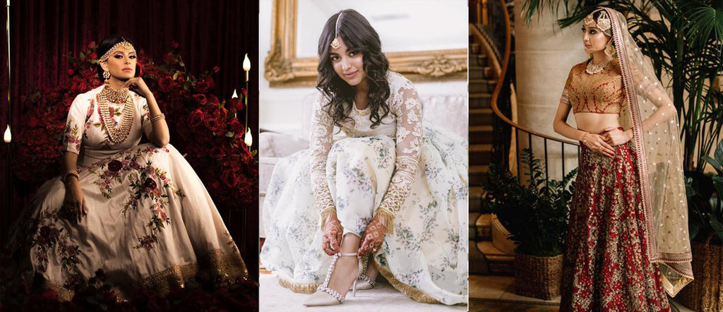 Modern Indian Minimalist Lehengas for the Brides of Today: 50 People Weddings (2020)