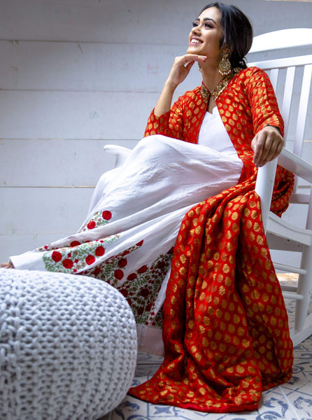 Pure silk & sustainable khadi outfit