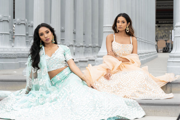 summer wedding lehengas for bridesmaids