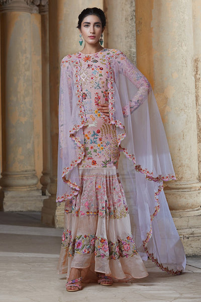 layered gown by Rahul Mishra