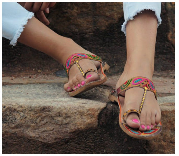 Colorful Jodhpuri flats for HOLI