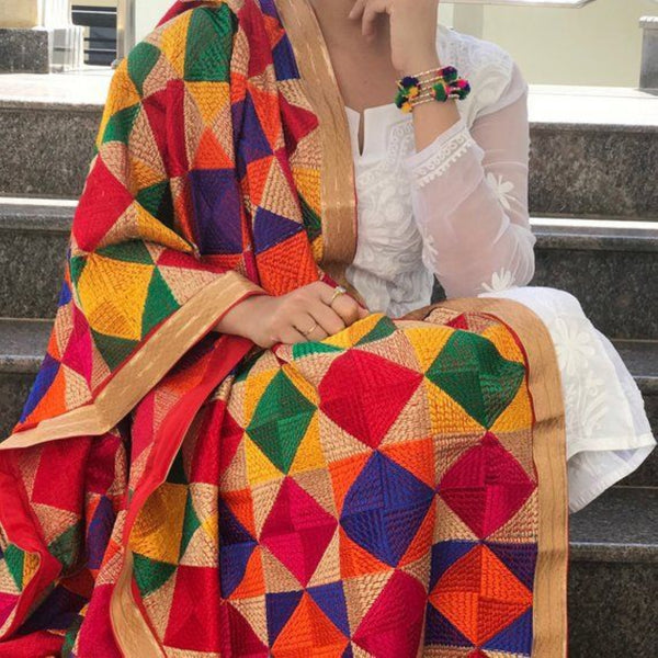 Multicolor Indian Dupatta for HOLI