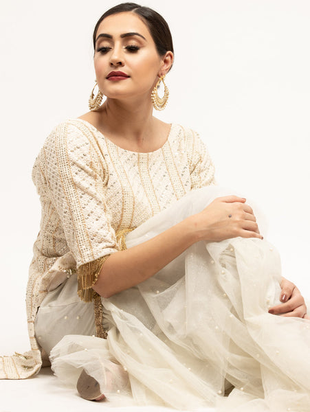 Chikankari embroidery outfit