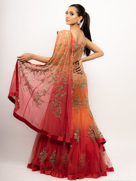 Ombre gown for Mehendi outfit 2021