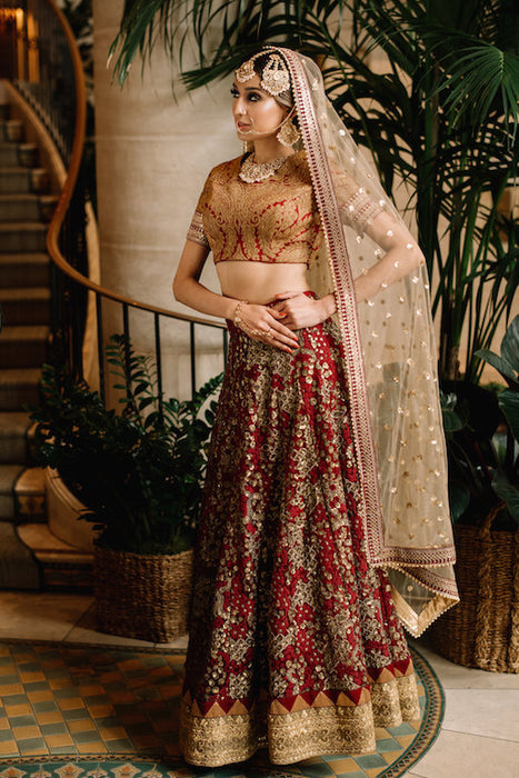 Anya Bridal Lehenga - Indian Bridal Wear - bAnuDesigns
