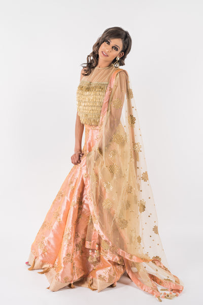 Fringe blouse with lengha - Wedding guest attire