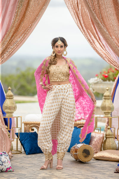 dhoti pants with crop top