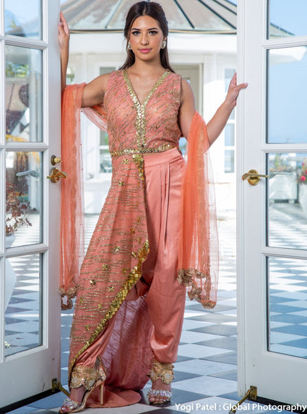 Dhoti pant with kurta - wedding guest dress india