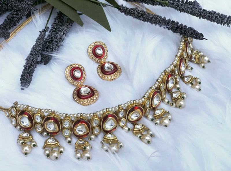 Noor Ruby Pearl Set - bAnuDesigns