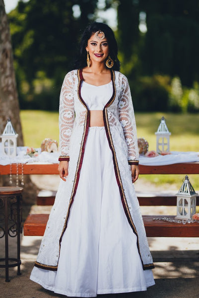 indian jacket for lehenga - Indian dresses for wedding guests