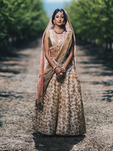 Gold Bridal Lengha