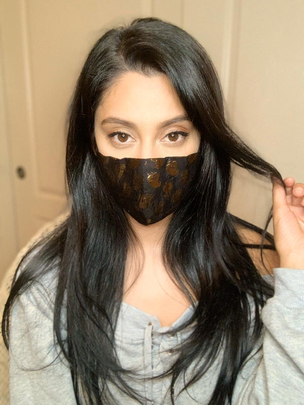 Silk Printed Face Mask - Designer Face Mask - bAnuDesigns