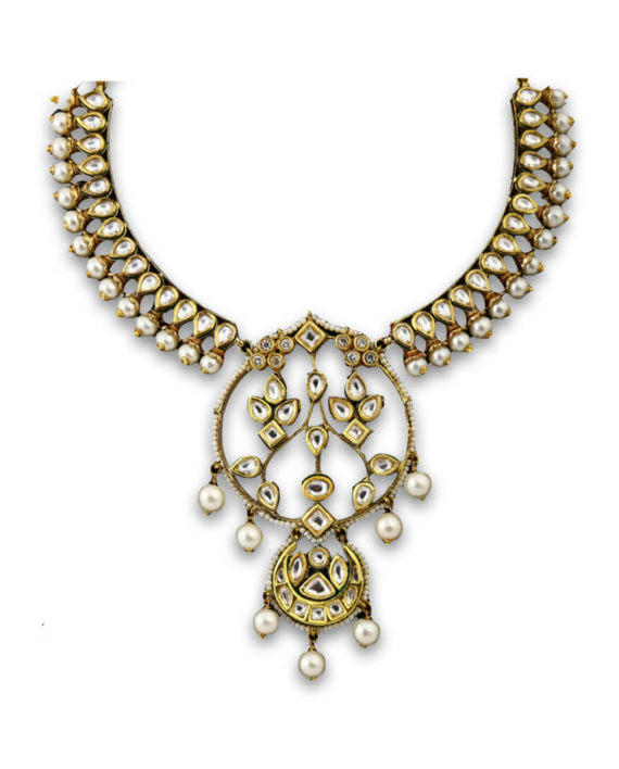 Necklace With Kundan Work - bAnuDesigns
