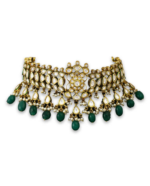 Kundan Emerald Choker Bridal Set