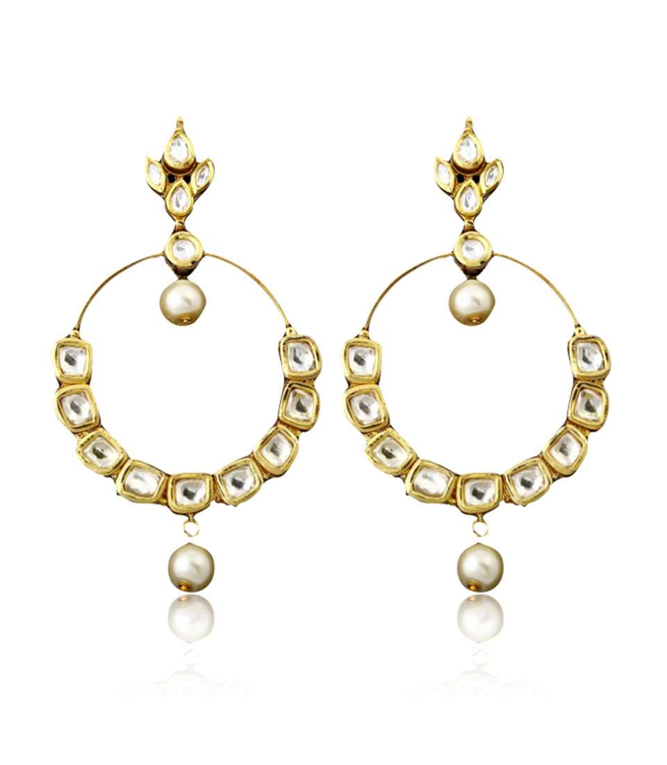 Polki Hoop Earrings