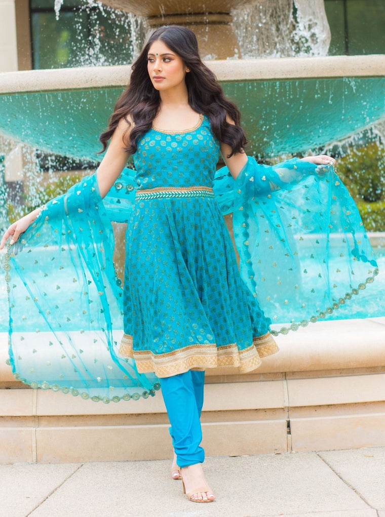 Azul Anarkali suit