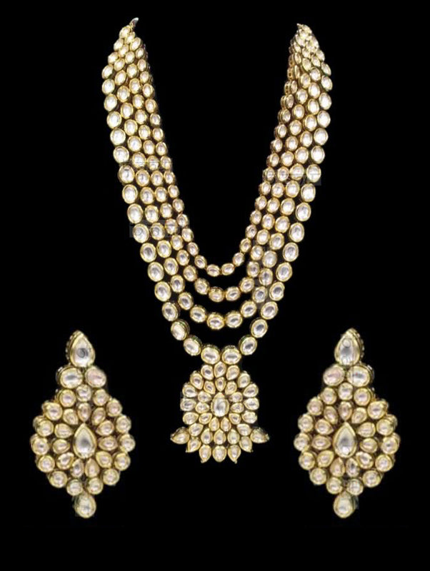 Aarzoo Kundan Layered Necklace Set - bAnuDesigns