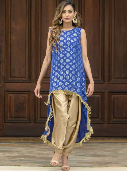 Patiala dhoti pants with suit
