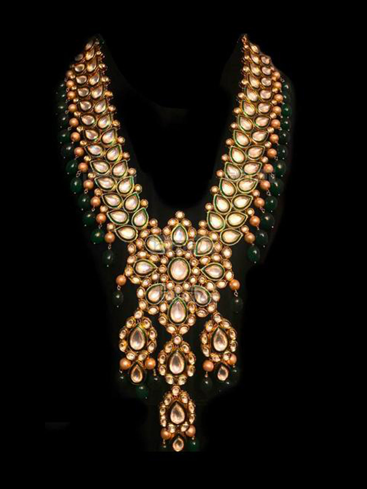 Dulhan Emerald Kundan Necklace - bAnuDesigns