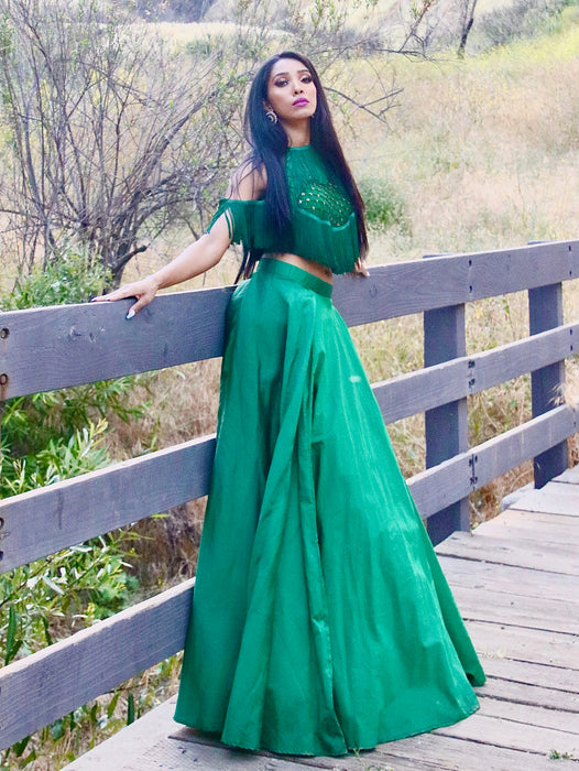 Green Goddess Lehenga - bAnuDesigns