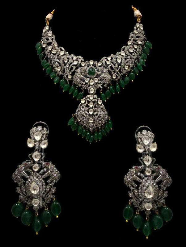 Israh Victorian Emerald Set - bAnuDesigns