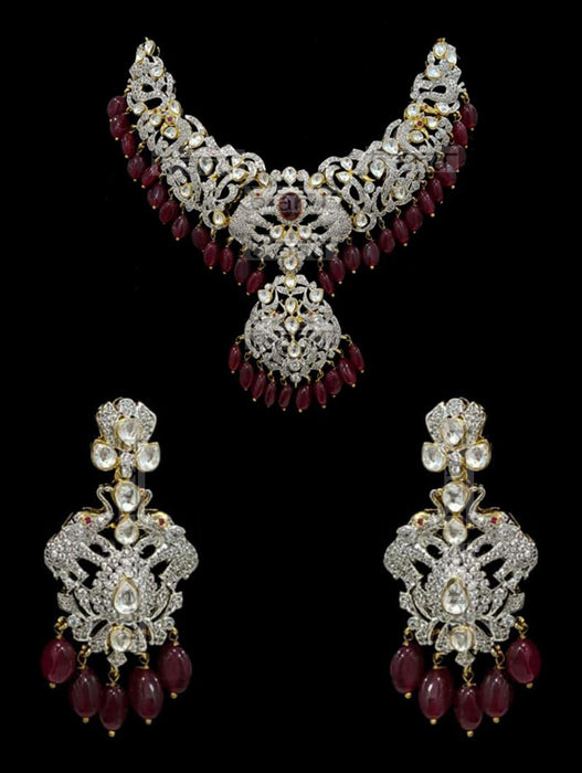Israh Victorian Ruby Set - bAnuDesigns