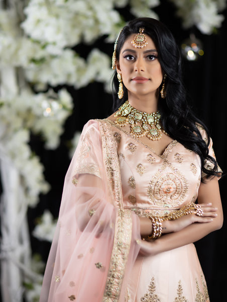 Indian wedding bride dress in Pink