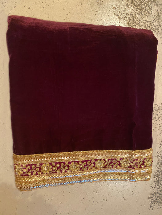 Velvet Shawl - Embroidery Border - bAnuDesigns